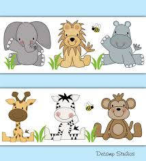 safari animals nursery baby boy