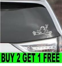 Peace Frog Window Decal Sticker Ebay