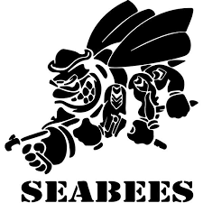 Navy Seabees Decal Sticker Navy Seabees Decal Thriftysigns