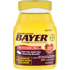 Genuine Bayer Aspirin Pain Reliever / Fever Reducer 325mg Coated ...