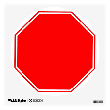 Blank Customizable Stop Sign Wall Decal Zazzle Com