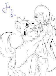 Anime Jongen Met Hond Door Zavekey Kleurplaat Gratis Kleurplaten