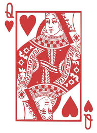 Queen Of Hearts Playing Card Poker Blackjack Vinyl Wall Etsy Hearts Playing Cards Queen Of Hearts Card Card Art