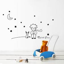 Stars Moon The Little Prince Fox Graphic Wall Stickers Children Fairy Tale Wall Decals For Kids Room Nursey Room Decor Poster Cheap Wall Art Stickers Cheap Wall Clings From Chairdesk 3 97 Dhgate Com