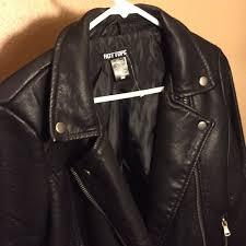 faux leather jacket hottopic medium