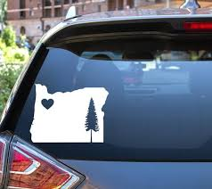 Oregon Car Decal Oregon Heart Sticker State Love Decal Etsy