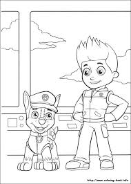 Chase And Ryder Paw Patroller Paw Patrol Coloring Pages