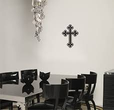 Amazon Com Arise Decals Cross Wall Decal Religious Sticker Home Kitchen