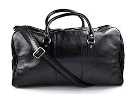 leather duffle bag genuine leather