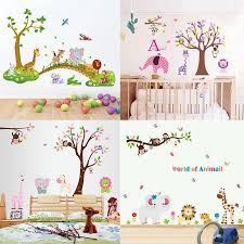 Zs Sticker Jungle Wall Stickers Children Room Home Decor Nursery Jungle Vinyl Kids Room Decal Baby Room Nursery Decor Wall Stickers Aliexpress