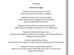 vow poems