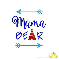 Custom Mama Bear Mom Quote Vinyl Decal Sticker For Car Tumbler Cup Laptop B01icr32lg