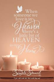 When Someone We Love Is In Heaven Memorial Vinyl Wall Decal In 2020 Vinyl Wall Decals Vinyl Wall Quotes Wall Quotes Decals