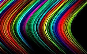 تحميل خلفيات التجريد خطوط ملونة خلفية سوداء عريضة 1920x1200