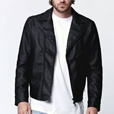 pacsun black leather jacket designer