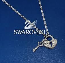 swarovski crystal heart locket chain