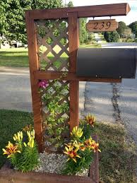 17 Diy Mailbox Ideas Are Sure To Promote The Appeal Outdoor Diy Projects Mailbox Landscaping Diy Outdoor