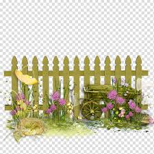 Flowers Fence Fence Pickets Flower Garden Gate Hedge Sticker Gardening Transparent Background Png Clipart Hiclipart