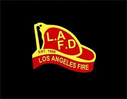 Lafd Helmet Car Window Decal Los Angeles Fire Department Sticker For Sale Online Ebay