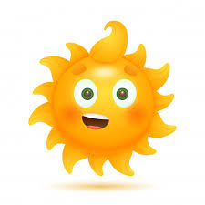 cheerful funny cartoon sun free vector