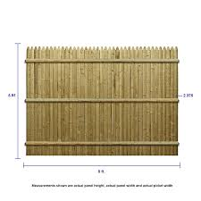 Severe Weather 6 Ft H X 8 Ft W Pressure Treated Spruce Pine Fir Stockade Fence Panel In The Wood Fence Panels Department At Lowes Com