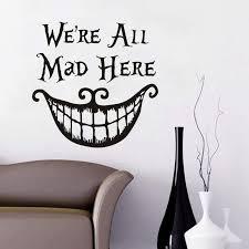 All Mad Alice Wonderland Vinyl Decal Sticker For Wine Bottle Craft Glass Party