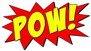 Amazon Com Vwaq Comic Book Pow Wall Decal Sound Effect Superhero Pow Vinyl Wall Decor Peel And Stick Sticker Cb2 15 H X 22 W Home Kitchen