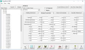 structural steel shapes software
