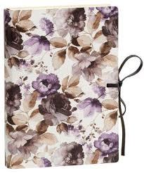 italian leather journal with purple tie