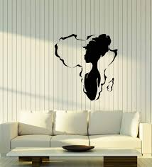 Amazon Com Vinyl Wall Decal African Girl Native Beauty Africa Continent Stickers 3912ig Home Kitchen
