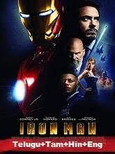 Iron Man (2008) BRRip [Telugu + Tamil + Hindi + Eng] Dubbed Full Movie Watch Online Free