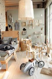 Creative Boy S Room With A Lot Going On The Mellow Grey And Natural Color Palette Keeps It From Looking Too Chao Kids Room Grey Kids Room Paint Kid Room Decor