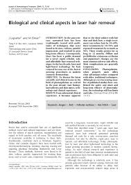 clinical aspects in laser hair removal