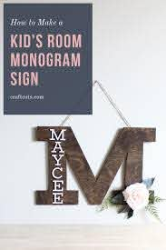 How To Make A Kid S Room Monogram Sign Craftcuts Com