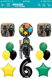 The Ultimate Lego Ninjago Sixth 6th Birthday party supplies and Balloon  Decorations $19.99 on Amazon