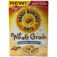 whole grain almond crunch cereal