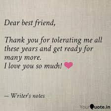 dear best friend thank quotes writings by meghna agarwal