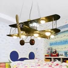 Green Prop Plane Suspended Lamp Metal 8 Lights Chandelier Light For Boys Bedroom Living Room Beautifulhalo Com