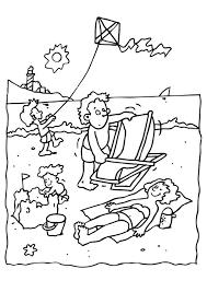 Kleurplaat Vakantie Op Het Strand Gratis Kleurplaten Om Te Printen