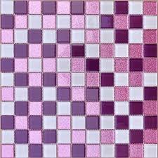 crystal glass mosaic sheets purple wall