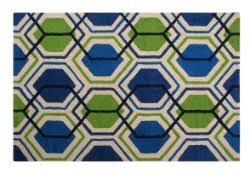 blue geometric rugs with free uk