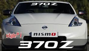 Nissan 370z Windshield Banner Decal Sticker Custom Sticker Shop