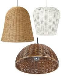 wicker rattan basket pendant lights