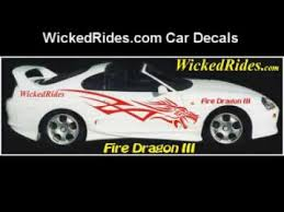 Car Decals Dragon Stripes Tribal Flames Checkered Here Youtube
