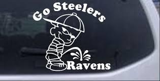 Go Steelers Pee On Ravens Car Or Truck Window Decal Sticker Rad Dezigns