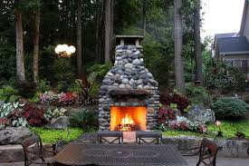 fireplaces made from river rock