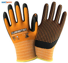 pairs nitrile safety glove super grip