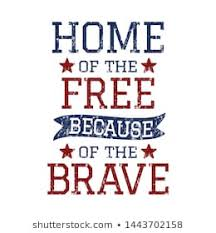 home of the and the brave stock vectors images vector art