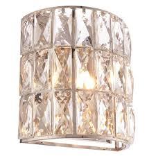 verina crystal single wall light 76515