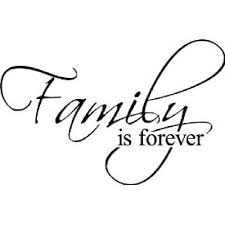 Family Is Forever Decorative Vinyl Wall Decal Scripture Wall Art Vinyl Decal Wall Art And More